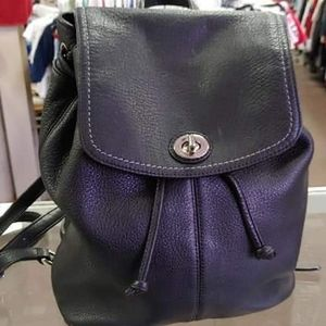 Coach Backpack purse - black leather